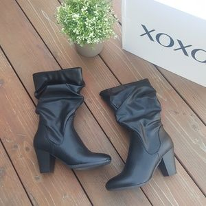 New XOXO Heeled Black Boots